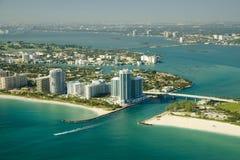 Bords de la mer de Miami Image libre de droits