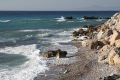 Bord de la mer de Rhodes Photos stock