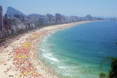 Bord de la mer de Rio de Janeiro Image stock