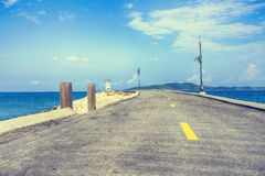 Bord de la mer de route Photo libre de droits