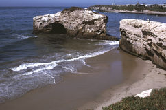 Bord de la mer de Santa Cruz photographie stock libre de droits