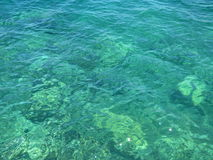 Bord de la mer en cristal Photos stock