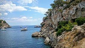 Bord de la mer en Majorque Photos stock
