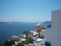 Bord de la mer grec dans Santorini Images stock