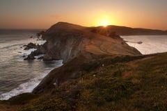 Bord de la mer national de Reyes de point, la Californie Photographie stock
