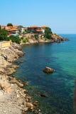 Bord de la mer. Nessebar. La Bulgarie. Image stock