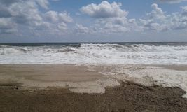 Bord de la mer de plage de tailles de bord de la mer photographie stock libre de droits