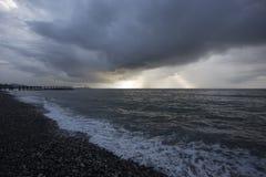 Bord de la mer près de Batumi, la Géorgie Photographie stock