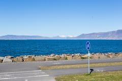 Bord de la mer de Reykjavik Image stock
