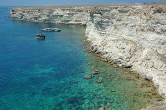 Bord de la mer rocheux Photo stock