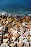 Bord de la mer rocheux Images libres de droits