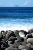 Bord de la mer rocheux Photos stock