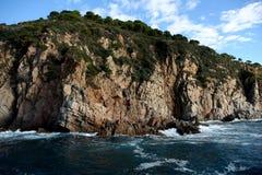 Bord de la mer rocheux Photographie stock libre de droits