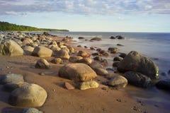 Bord de la mer rocheux en été ensoleillé Images stock