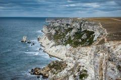 Bord de la mer, Tarhankut, Dzhangul La Crimée, Russie Photo stock