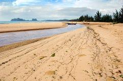 Bord de la mer thaï Images libres de droits