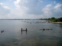 Bord de la mer urbain photos stock