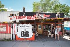 Bord de la route de Route 66 Image stock