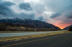 Bord de la route tiré de Thurston Peak Images libres de droits