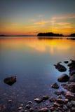 Bord de lac Images libres de droits