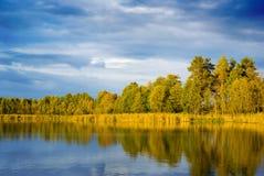 Bord de lac. Photo libre de droits