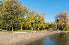 Bord de lac de Zurich en automne Image libre de droits