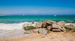 Bord de mer à Badalona Images stock
