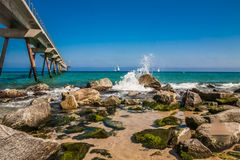 Bord de mer à Badalona Photographie stock