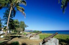 Bord de mer à Saint Paul, Reunion Island Photos libres de droits