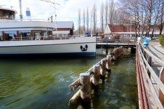 Bord de mer bavarois de lac Ammersee chez Stegen Photo libre de droits