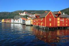 Bord de mer à Bergen Photo stock