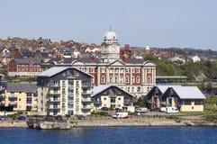 Bord de mer de Barry Docks, Pays de Galles, R-U Photo libre de droits