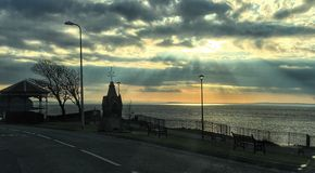 Bord de mer de Clevedon Photographie stock