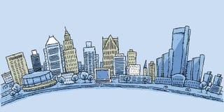 Bord de mer de Detroit illustration stock