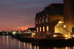 Bord de mer de Halifax au crépuscule Photos stock