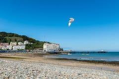 Bord de mer de Llandudno au Pays de Galles du nord, Royaume-Uni Photo stock
