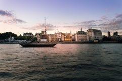 Bord de mer de Londres au coucher du soleil Photo libre de droits