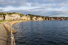 Bord de mer de lumière du soleil d'Oban Images libres de droits