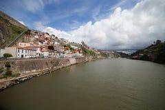 Bord de mer de rivière de Douro à Porto Photographie stock