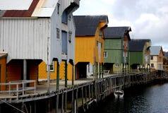 Bord de mer de village de pêche photo libre de droits