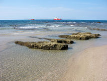 Bord de mer et bateaux Photo stock