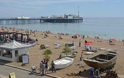 Bord de mer et plage à Brighton, le Sussex est, Angleterre Photographie stock libre de droits