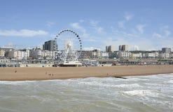 Bord de mer et plage de Brighton l'angleterre photo libre de droits