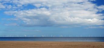 Bord de mer et plage Skegness Image libre de droits
