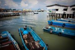 Bord de mer historique de George Town Image stock