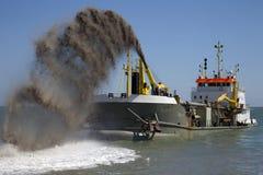 Bord de mer le Sussex est d'Eastbourne de rechange de bardeau Images libres de droits