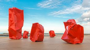 Bord de mer de plage d'Ostende en été, Belgique photographie stock libre de droits