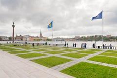 Bord de mer près de ville hôtel, Suède de Stockholm photo stock