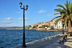 Bord de mer de Pylos, Grèce image libre de droits