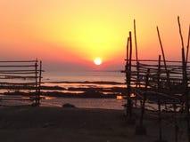 Bord de mer réglé de Sun de nature photo stock
